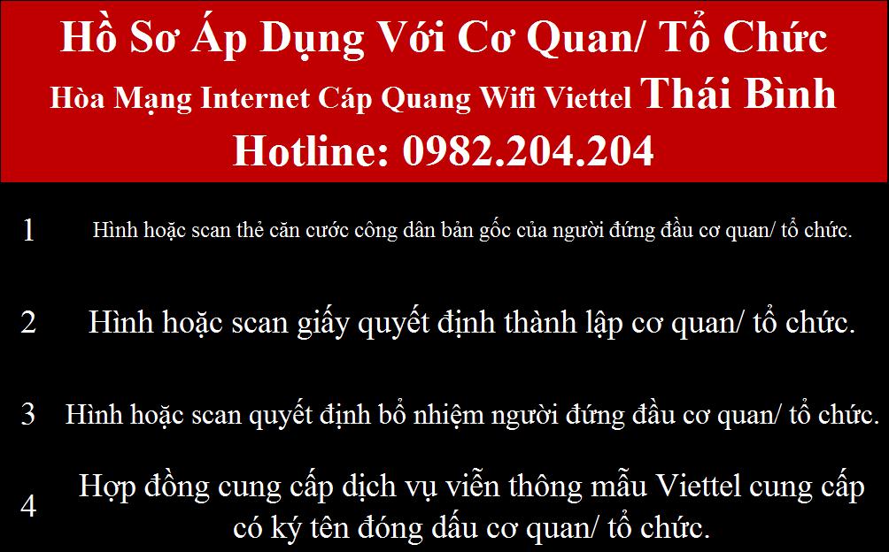 Lắp wifi Viettel Thái Bình