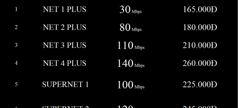 Bảng Giá Các Gói Cước Mạng Internet Cáp Quang Wifi Viettel Đồng Tháp 2021