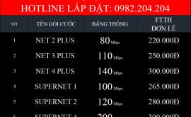 Bảng Giá Các Gói Cước Mạng Internet Cáp Quang Wifi Viettel Quận 4 TPHCM 2021 Mới