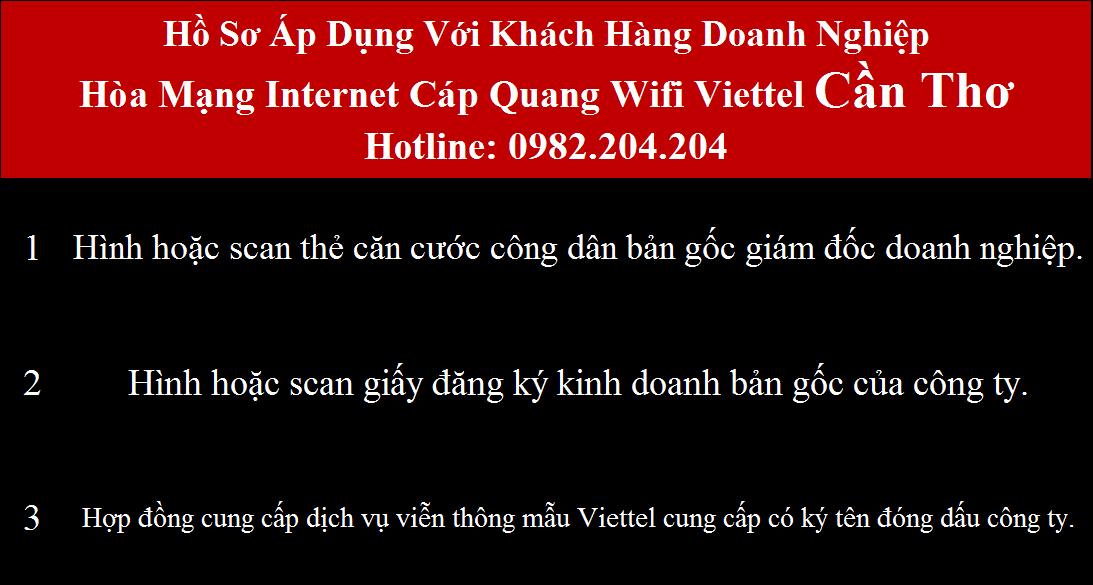 Bảng giá các gói cước mạng wifi Viettel Cần Thơ