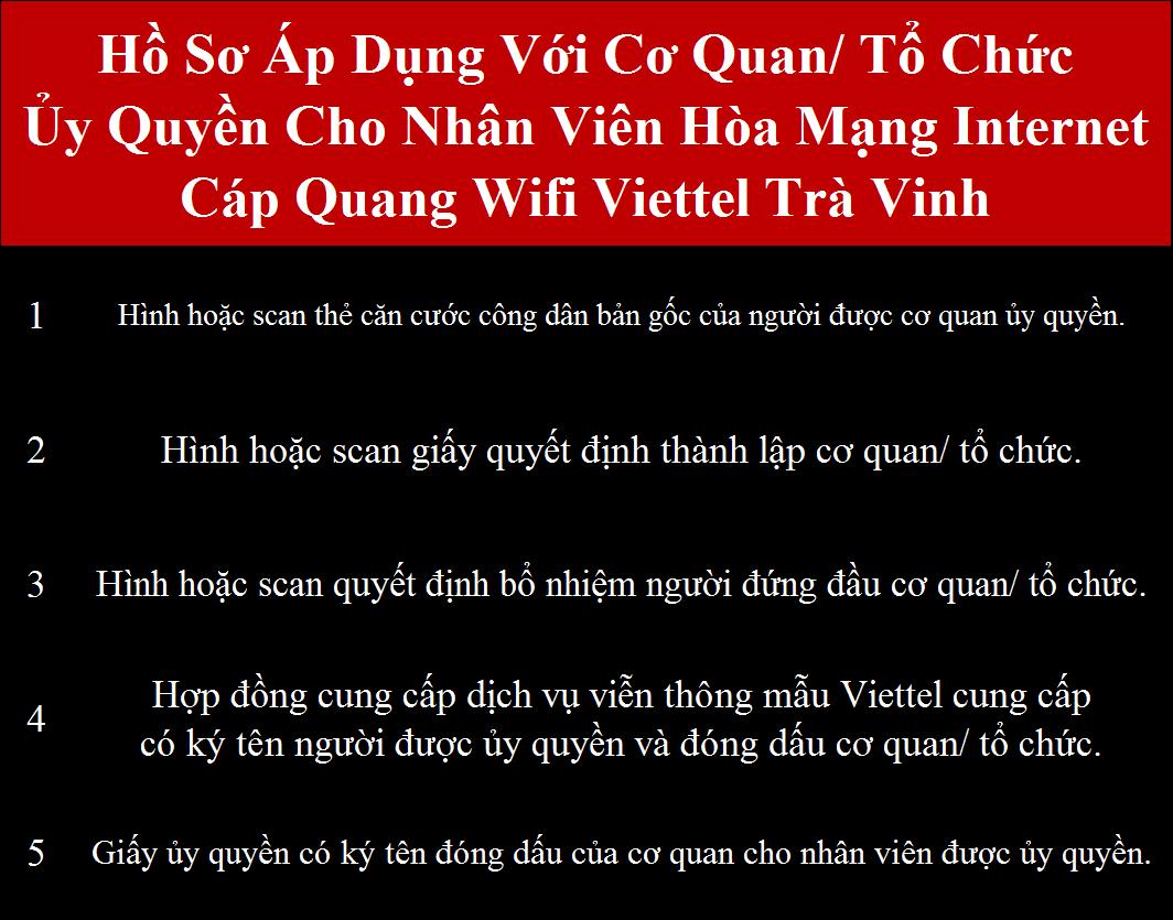 Đăng ký internet Viettel Trà Vinh