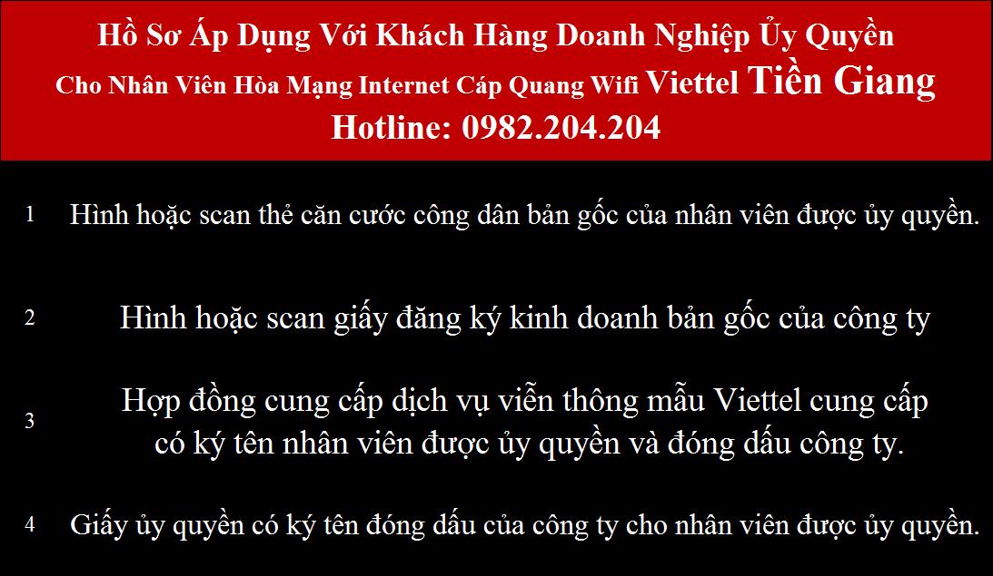 Đăng ký mạng Viettel Tiền Giang