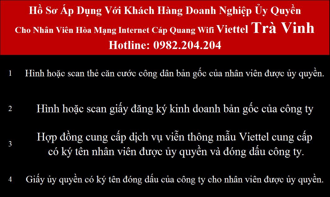 Đăng ký mạng Viettel Trà Vinh