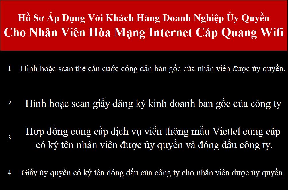 Gói cước internet Viettel doanh nghiệp