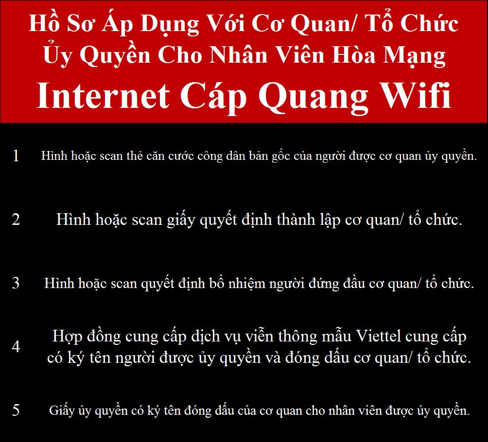 Gói cước wifi Viettel doanh nghiệp