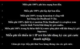 Khuyến Mãi Lắp Mạng Internet Cáp Quang Wifi Viettel Tiền Giang 2021