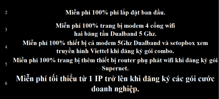 Khuyến Mãi Lắp Mạng Internet FTTH Cáp Quang Wifi Viettel Cần Thơ 2021
