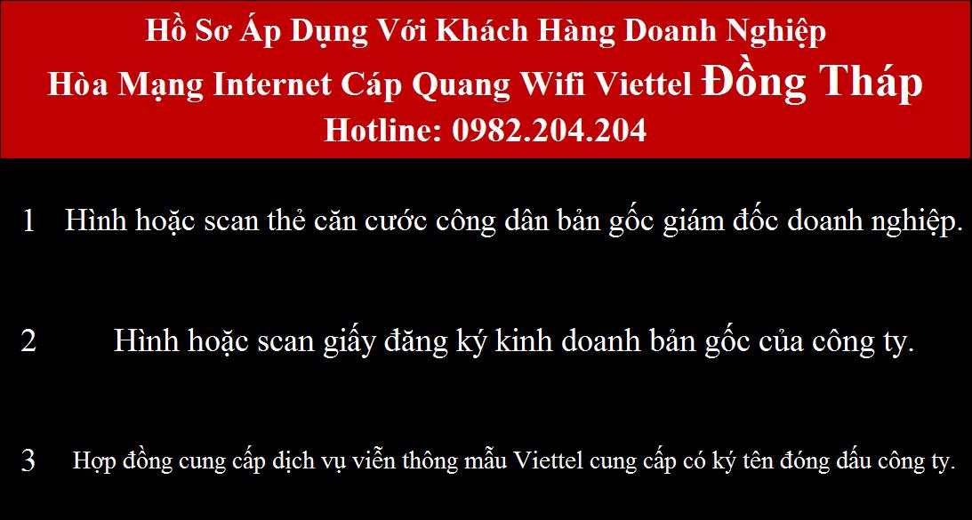 Lắp cáp quang Viettel Đồng Tháp