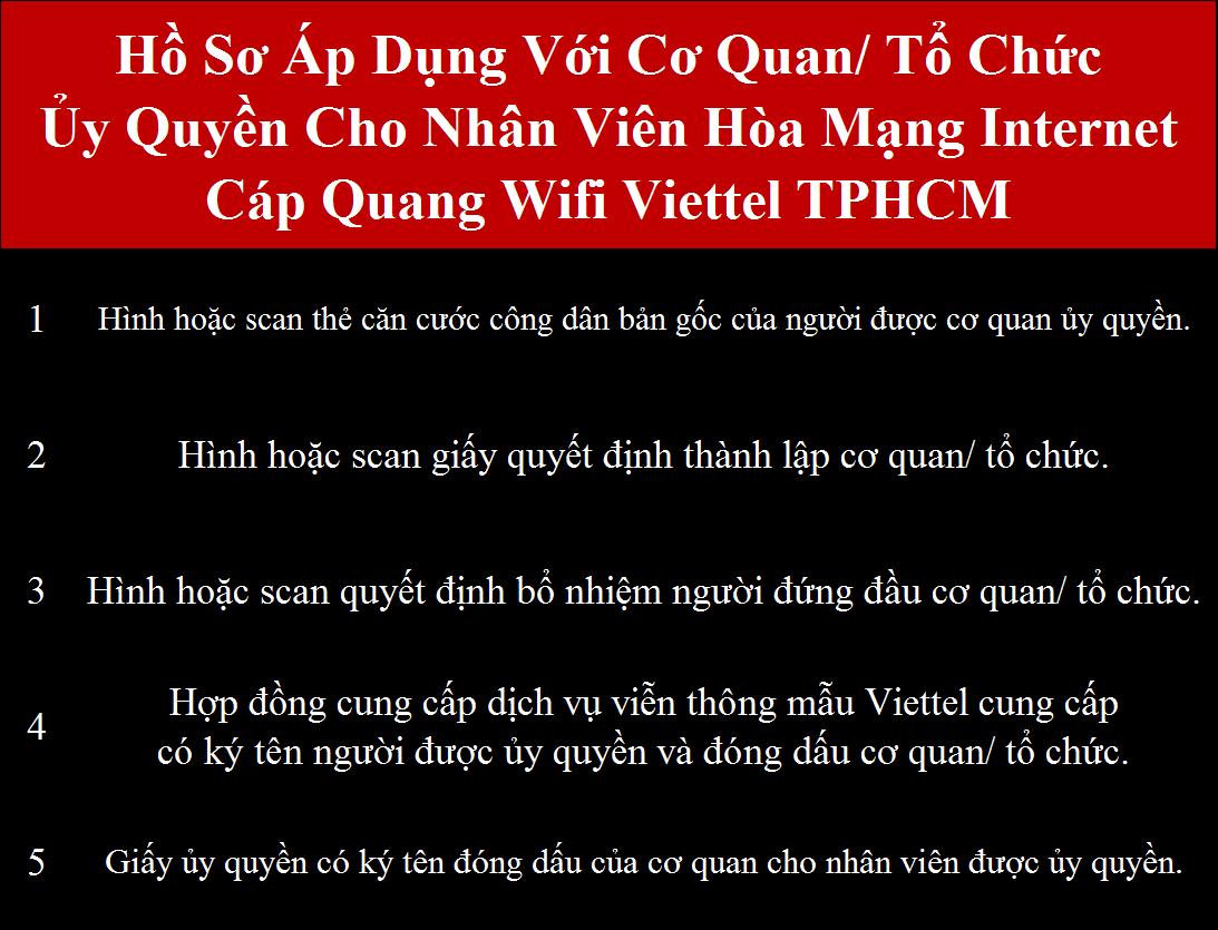 Lắp cáp quang Viettel HCM