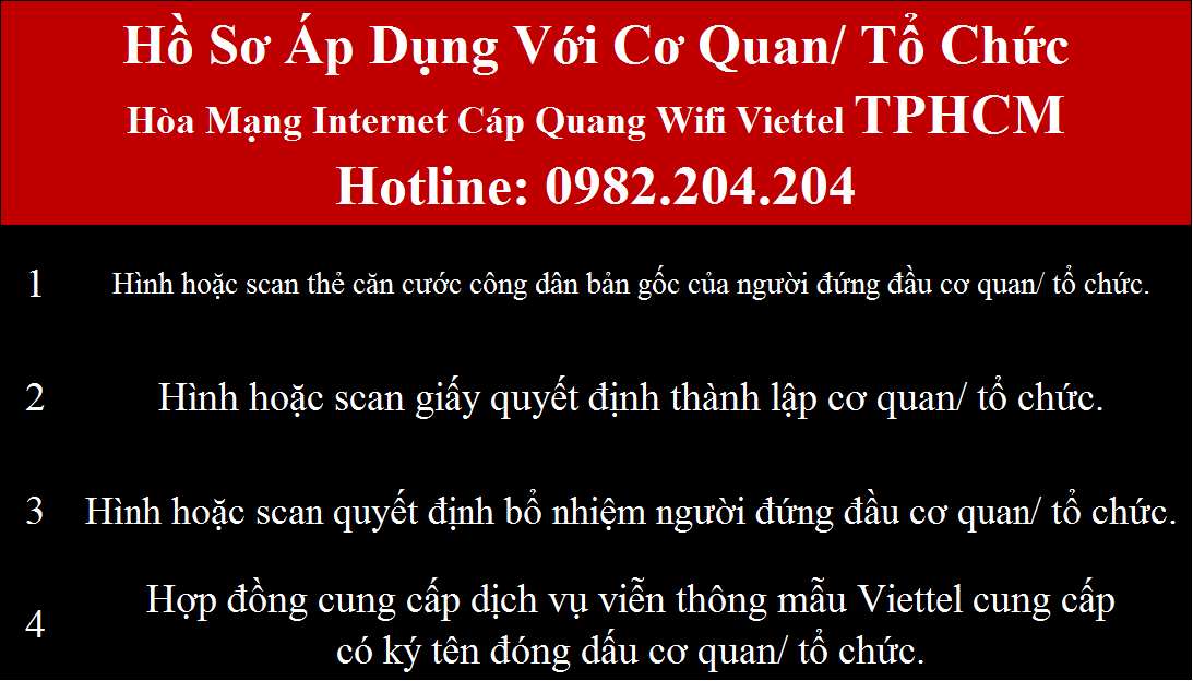 Lắp internet Viettel HCM