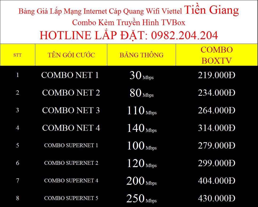 Lắp internet Viettel Tiền Giang