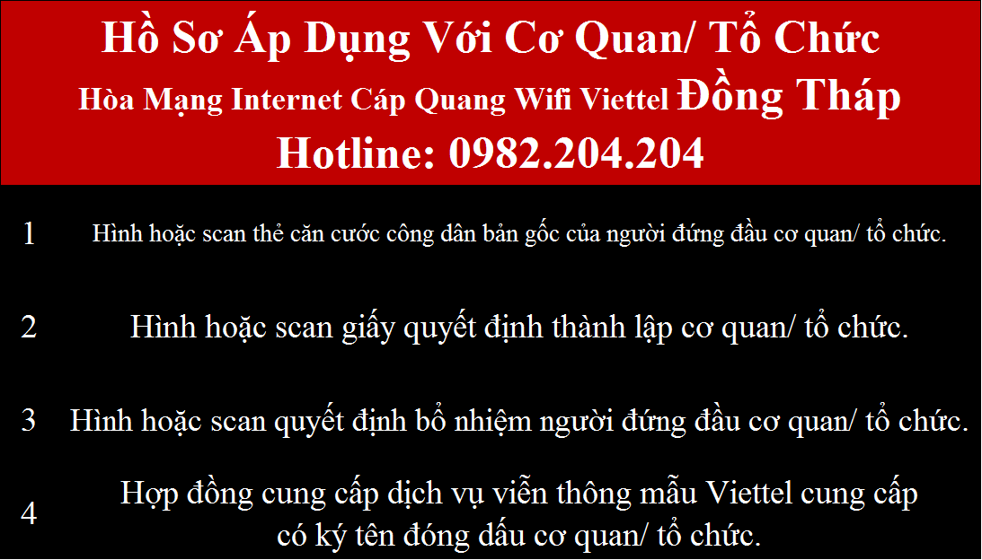Lắp mạng Viettel Đồng Tháp