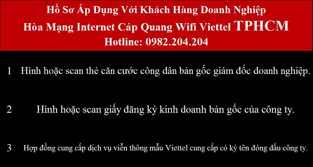 Lắp mạng Viettel HCM