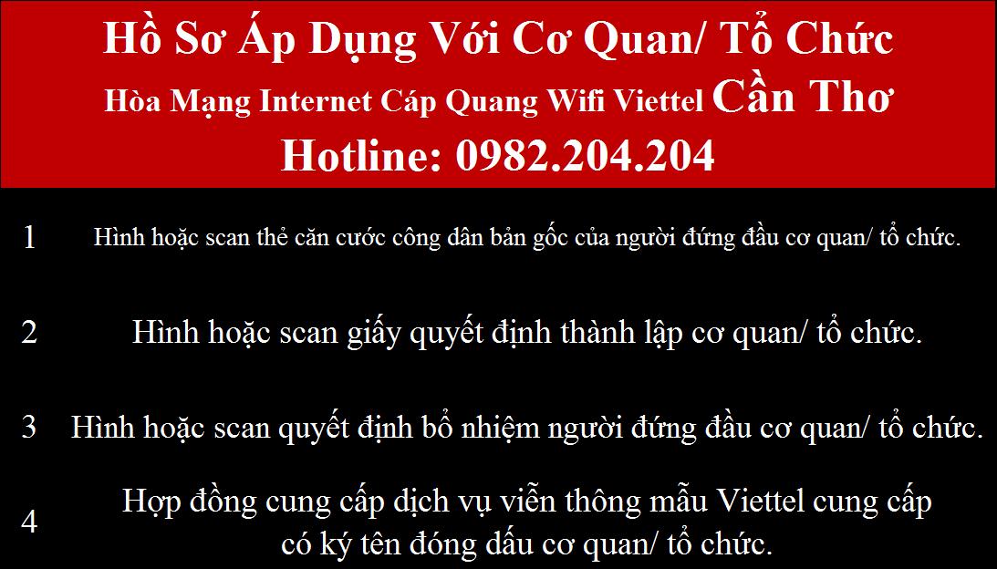 Lăp wifi Viettel Cần Thơ