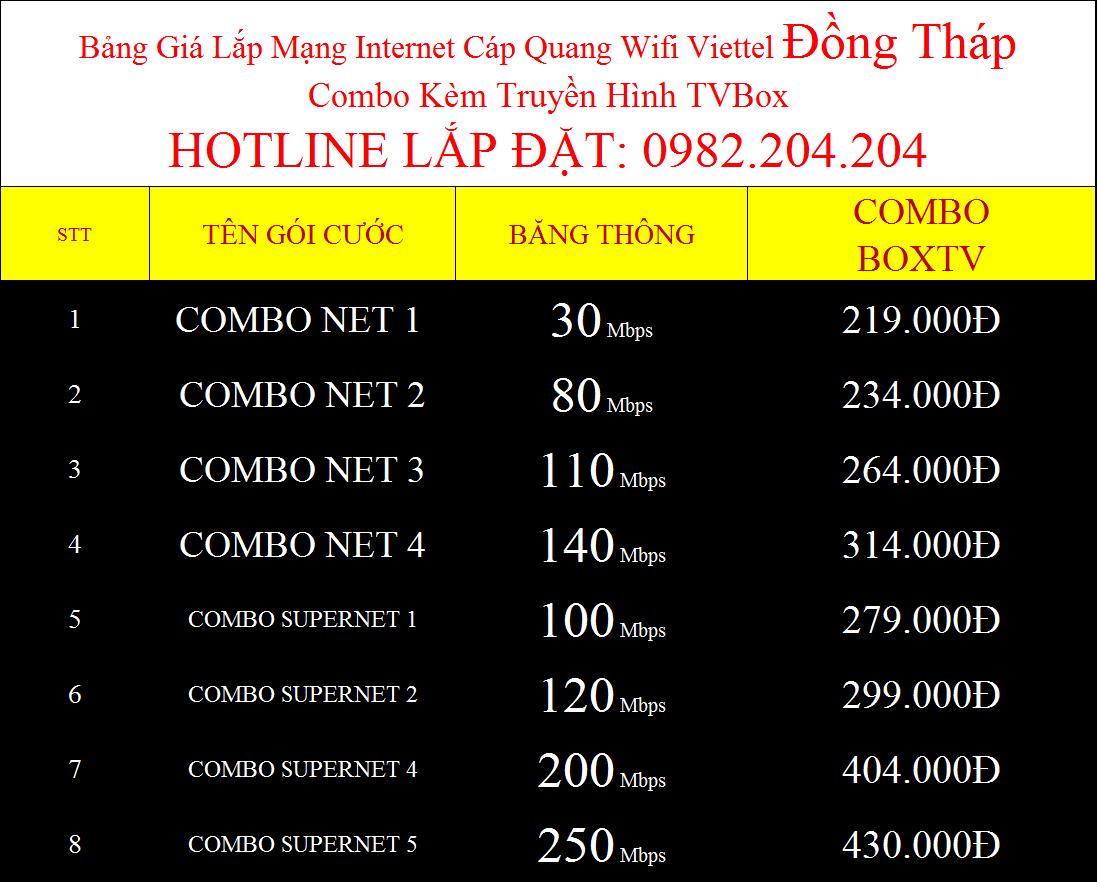 Lắp wifi Viettel Đồng Tháp