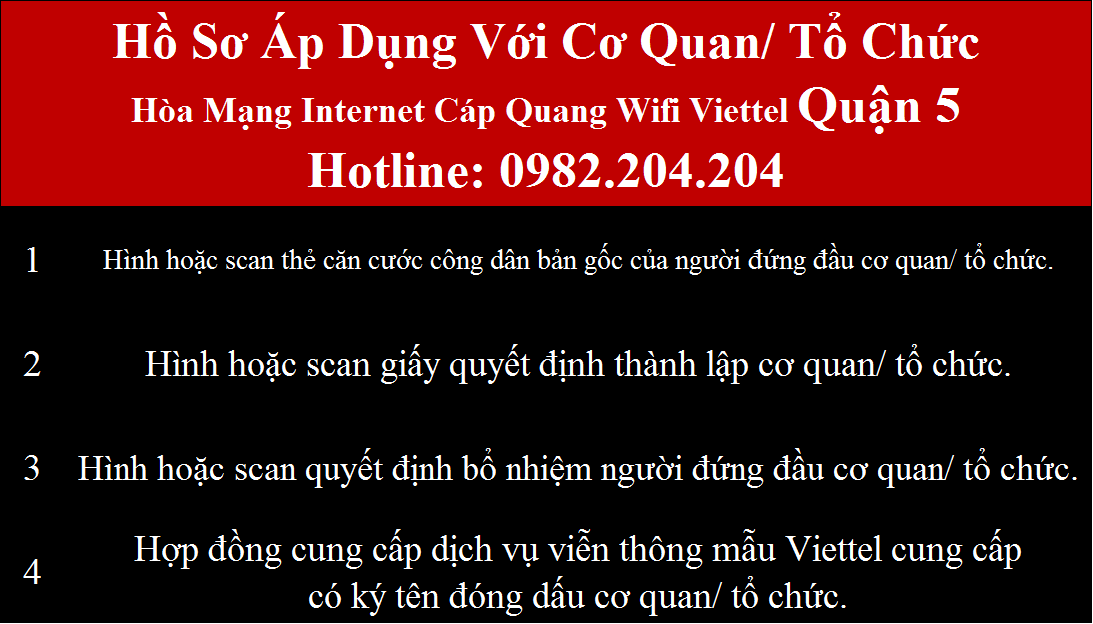 Lắp wifi Viettel Quận 5