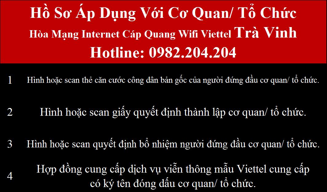 Lắp wifi Viettel Trà Vinh