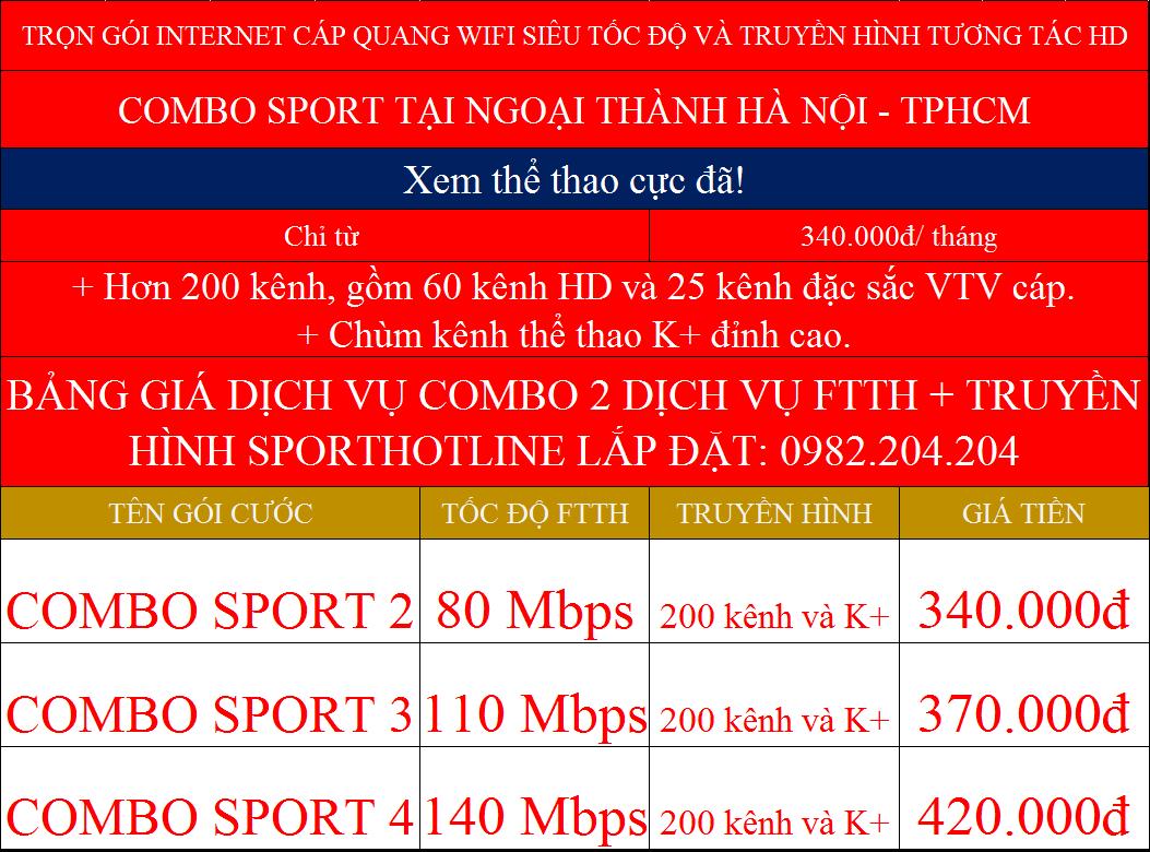 Các gói cước combo mạng wifi và truyền hình K+ Viettel tại ngoại thành TPHCM và Hà Nội