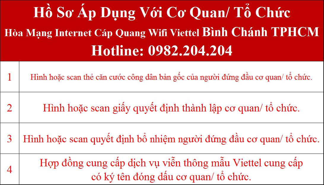 Đăng ký internet Viettel Bình Chánh TPHCM