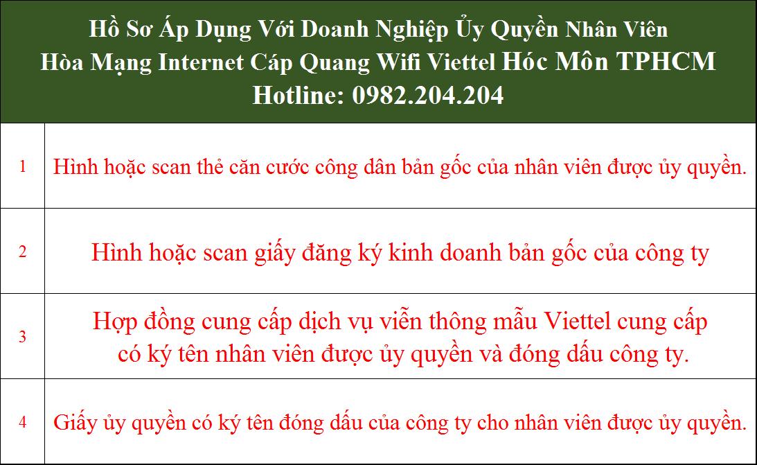 Đăng ký lắp internet Viettel Hóc Môn TPHCM