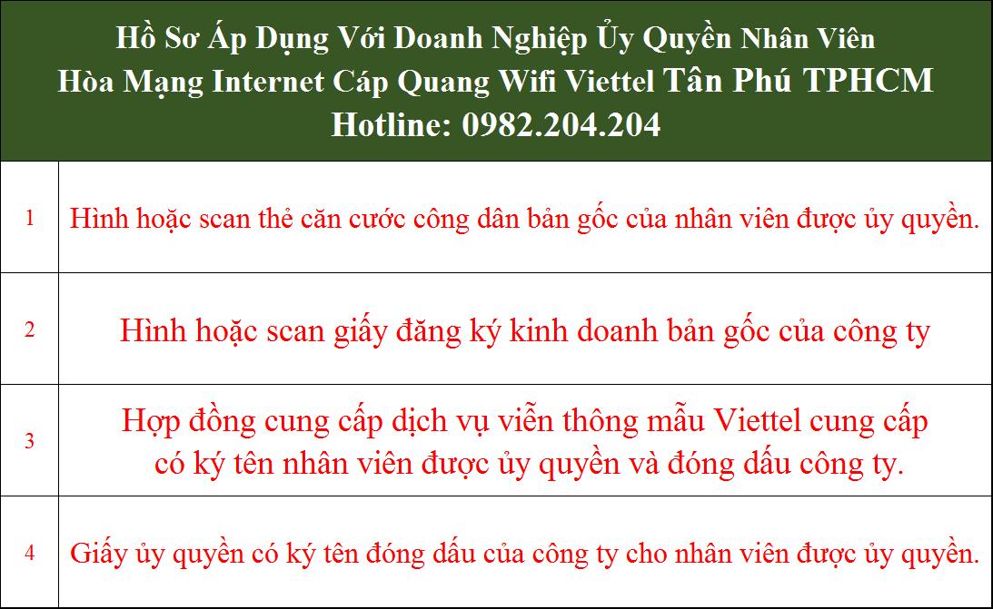 Đăng ký lắp mạng Viettel Tân Phú TPHCM