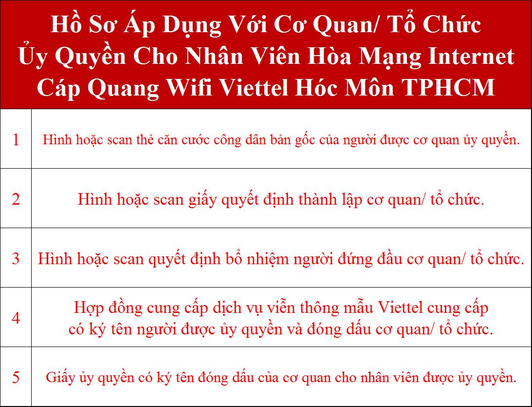 Đăng ký lắp wifi Viettel Hóc Môn TPHCM