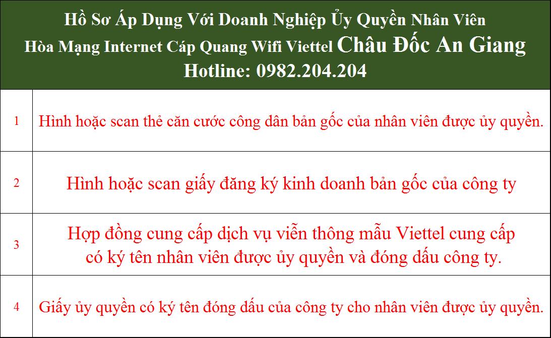 Đăng ký mạng Viettel Châu Đốc An Giang