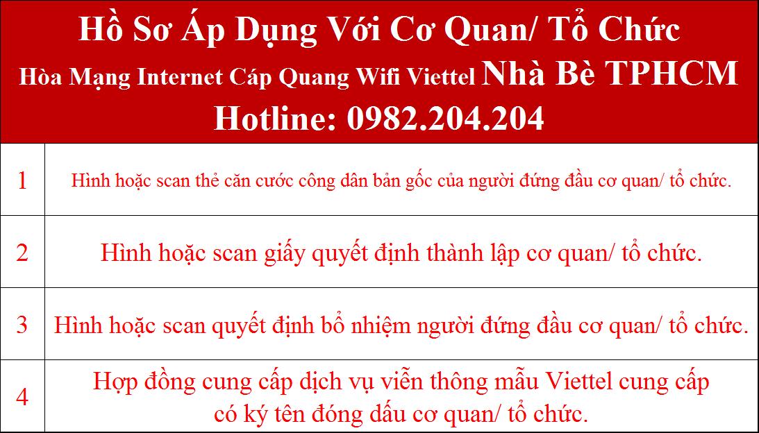 Đăng ký wifi Viettel Nhà Bè TPHCM