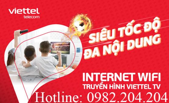 Khuyến mãi các gói cước mạng internet cáp quang wifi Viettel 2022