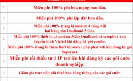 Khuyến Mãi Lắp Đặt Mạng Internet FTTH Cáp Quang Wifi Viettel Quận 7 HCM 2021 Mới