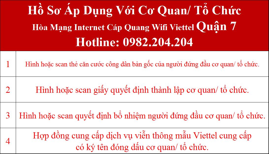 Lắp internet Viettel Quận 7