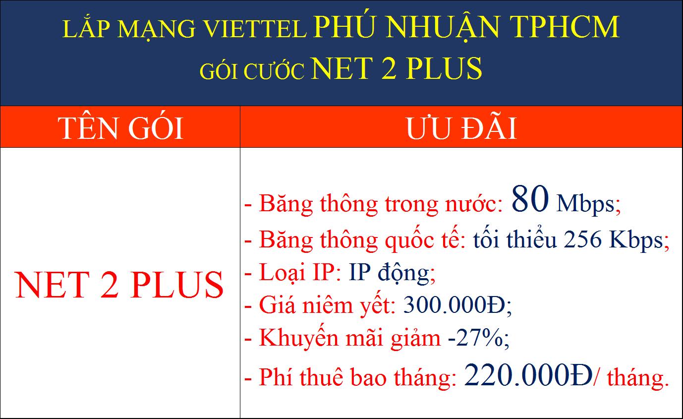 Khuyến mãi lắp wifi Viettel Phú Nhuận TPHCM 2022